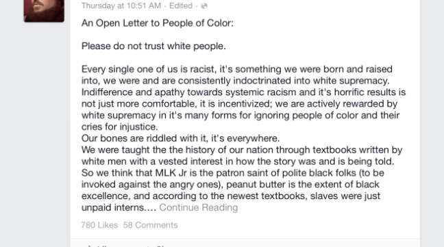 open letter to people of color